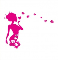 Elegant Flower Fairy DIY Removable Art Vinyl Wall Sticker